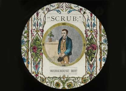 Scrub the Workhouse Boy lantern slide: University of Bristol Theatre Collection