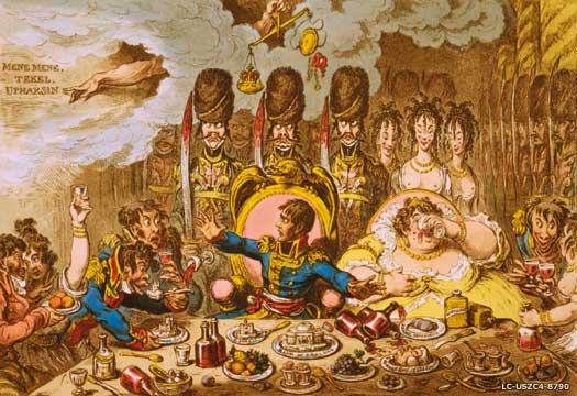 Napoleon and Josephine feast upon England