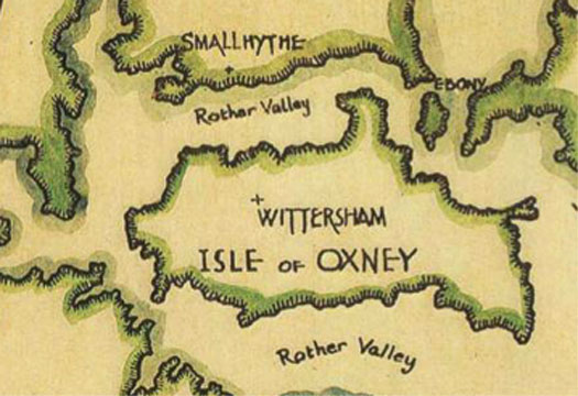 Isle of Oxney map