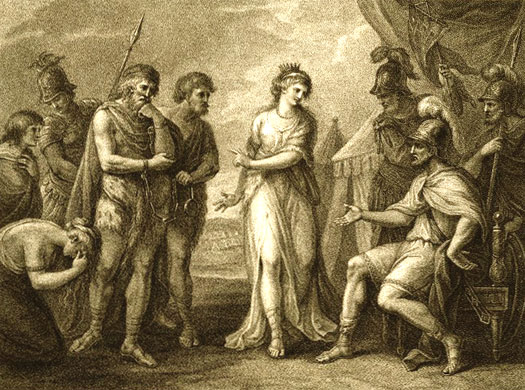 Queen Cartimandua hands over Caratacus