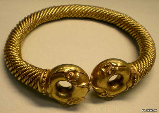 Celtic gold and silver-alloy torc