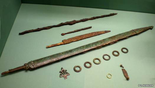 Iron Age swords within a burial
