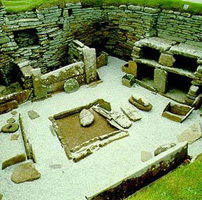 A living complex on Skara Brae