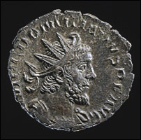 Front of the Domitianus coin