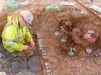 Roman finds in an excavation in Gravesend, Kent