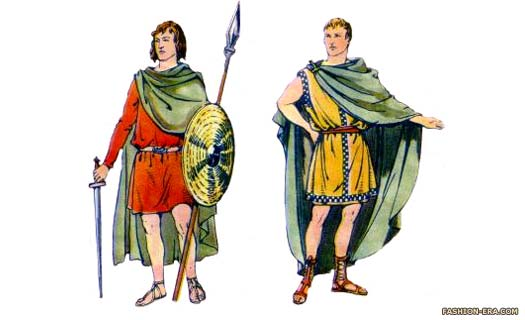 Male Romano-British dress