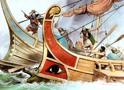 Romans attack a Veneti vessel