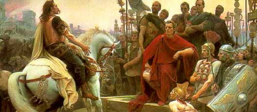 Vercingetorix and Caesar in 52 BC