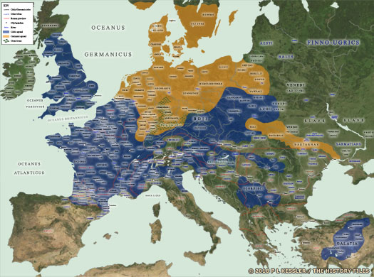 Map of European Tribes