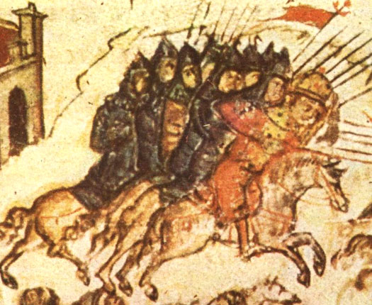 Bulgarian troops of the eighth century