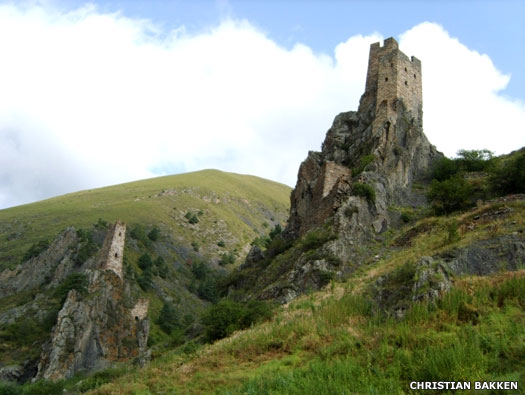 Medieval towers in Ingushetia