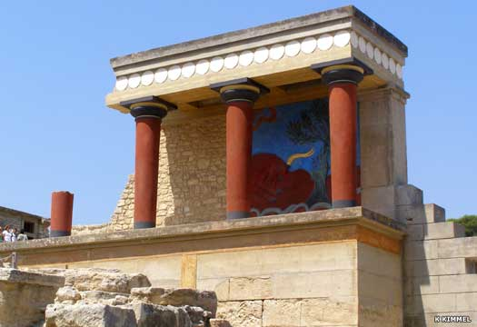The Minoan palace of Knossos on Crete