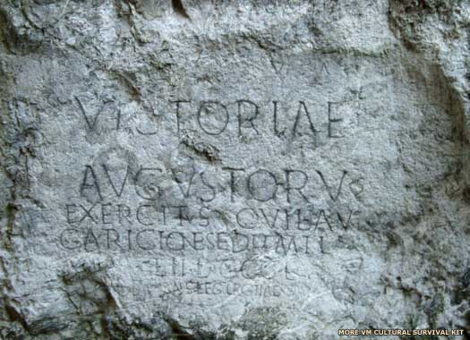 Trenčín castle inscription