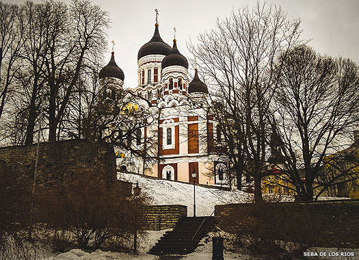 Aleksander Nevsky Cathedral in Tallinn, Estonia