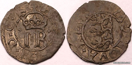 Swedish coin of the duchy of Estonia