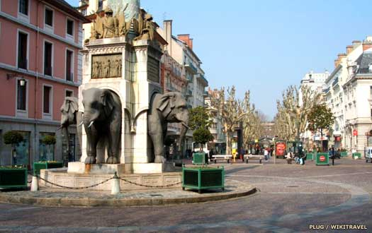 Place of the Elephants in Chambéry