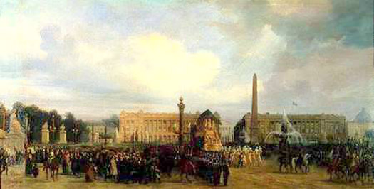 The return of Napoleon's ashes in 1840