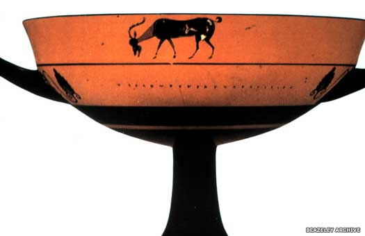 Athenian black figure pottery