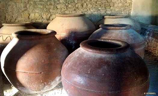 Ceramic pots on Cyprus