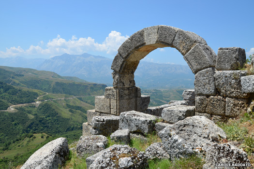 The city of Amantia in Albania