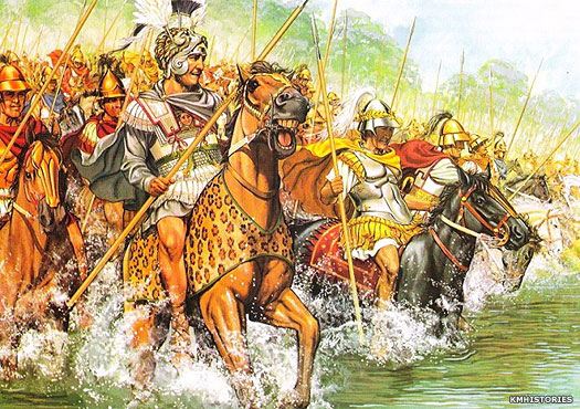 Alexander the Great crosses the River Graneikos