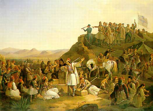 'The Camp of Georgios Karaiskakis' by Theodoros Vryzakis