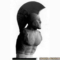 A bust of King Leonidas of Sparta