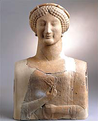 Greek figure of a woman from 500BC