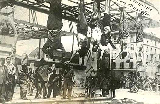 Mussolini is hung