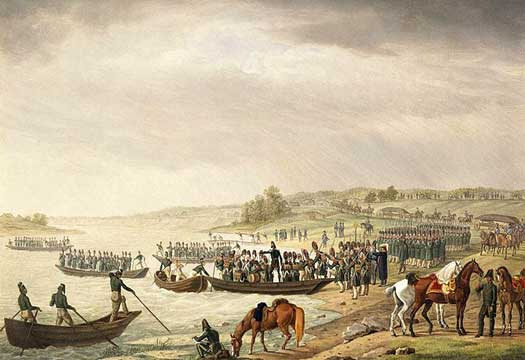 Italians cross the Niemen in 1812