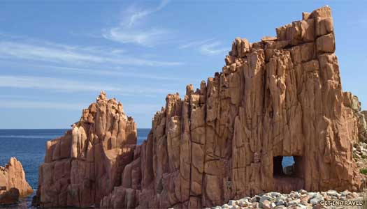 Sardinia's red porphyry rocks