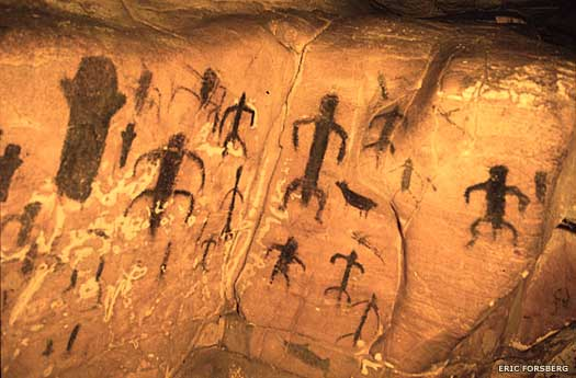 Cave paintings on Sicily