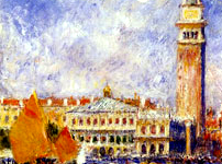 The Doge's Palace in Venice by Renoir