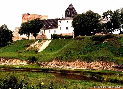 Bauskas Castle in Courland