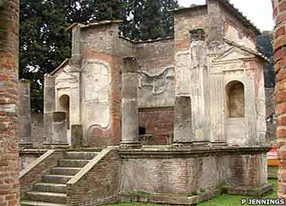 The Temple of Isis is the best preserved temple in Pompeii