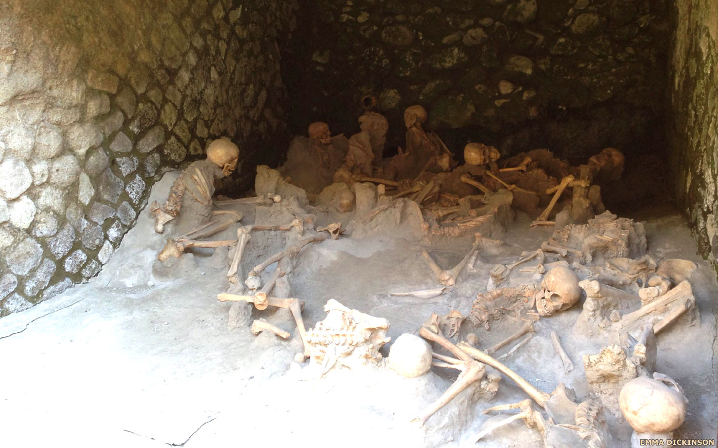 The dead of Pompeii and Herculaneum
