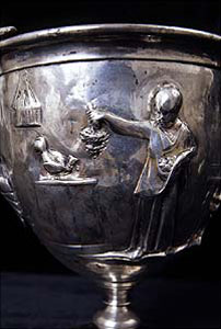 Silver goblet from Pompeii