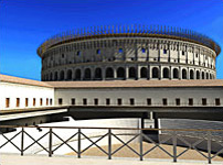 3D model of the colosseum in Rome