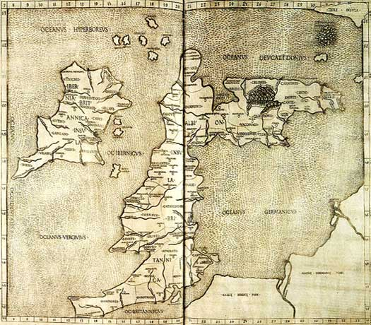 Ptolemy's map of Britain