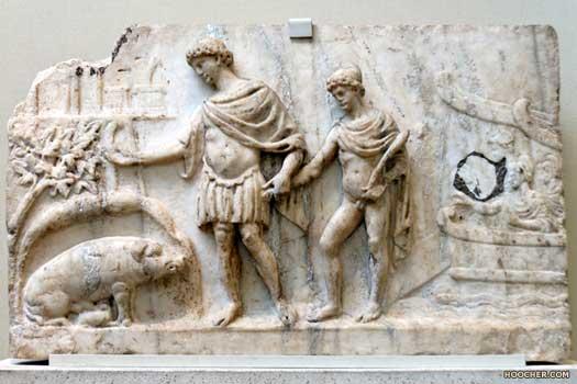 Aeneas přistává v Itálii