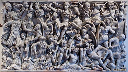 Ludovisi Battle Sarcophagus Goth depiction