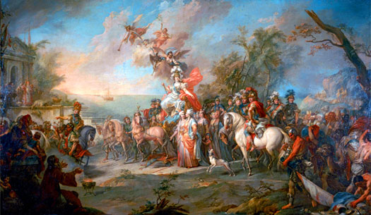 Torelli Stefano's Allegory of Catherine the Great's Victory over the Turks and Tatars