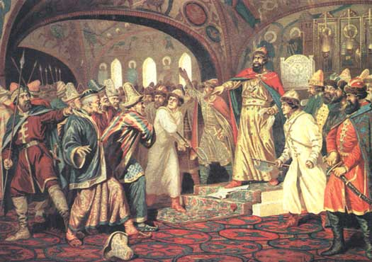 Ivan III tears up the Mongol demand for tribute