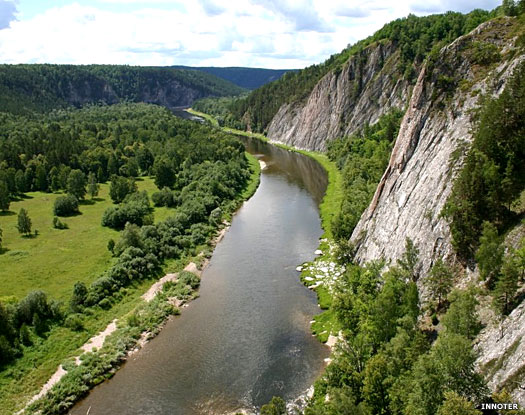River Belaia in the southern Urals