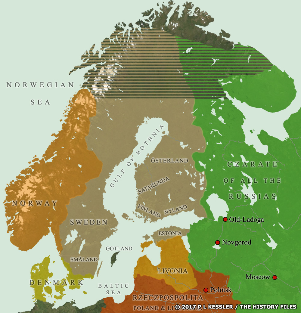 Map of Scandinavia AD 1581