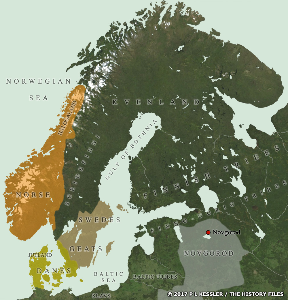 Map of Scandinavia AD 814