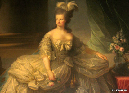 Portrait of Marie Antoinette at Versailles