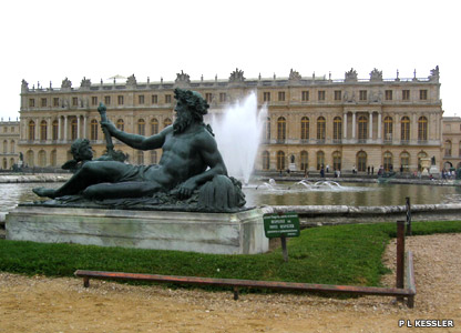 The Palace of Versailles overlooking the park
