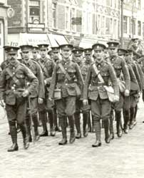 WWI British Army recruits
