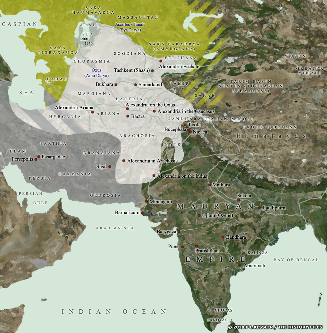 Map Of Asia 1960.Map Of Central Asia India C 200 Bc